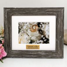 Anniversary Personalised Photo Frame Hamptons Brown 4x6