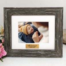 Christening Personalised Photo Frame Hamptons Brown 4x6