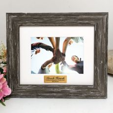Coach Personalised Photo Frame Hamptons Brown 4x6