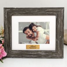 Dad Personalised Photo Frame Hamptons Brown 4x6