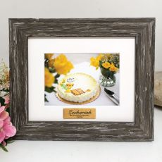 Communion Personalised Photo Frame Hamptons Brown 4x6