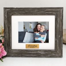 Grandma Personalised Photo Frame Hamptons Brown 4x6