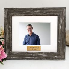 Retirement Personalised Photo Frame Hamptons Brown 4x6