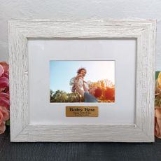 Personalised 1st Birthday Frame Hamptons White 4x6