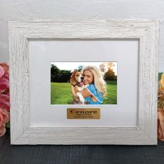 Personalised 21st Birthday Frame Hamptons White 4x6