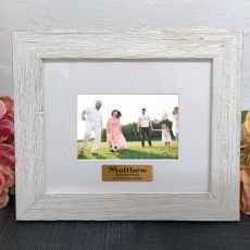 Personalised 60th Birthday Frame Hamptons White 4x6