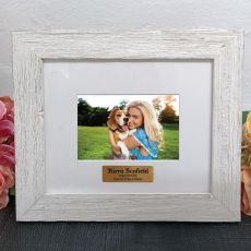 Personalised Birthday Frame Hamptons White 4x6