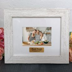 Personalised Aunt Frame Hamptons White 4x6
