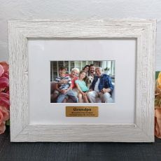 Personalised Grandpa Frame Hamptons White 4x6