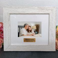 Personalised Memorial Frame Hamptons White 4x6