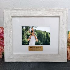 Personalised Uncle Frame Hamptons White 4x6