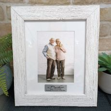 100th Birthday Personalised Frame Hamptons White 5x7