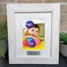 1st Birthday Personalised Frame Hamptons White 5x7