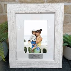 50th Birthday Personalised Frame Hamptons White 5x7