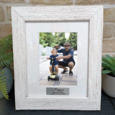 80th Birthday Personalised Frame Hamptons White 5x7