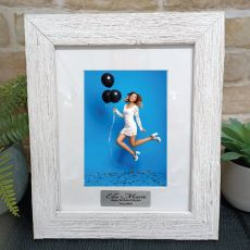 Birthday Personalised Frame Hamptons White 5x7