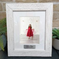 First Holy communion Personalised Frame Hamptons White 5x7