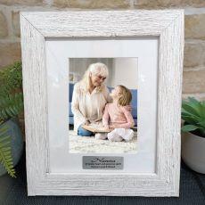 Memorial Personalised Frame Hamptons White 5x7