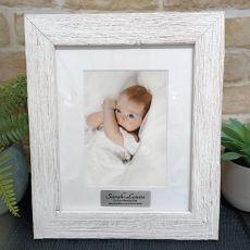Naming Day Personalised Frame Hamptons White 5x7