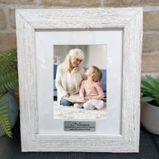 Nan Personalised Frame Hamptons White 5x7