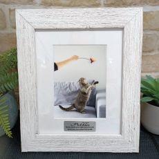 Pet memorial Personalised Frame Hamptons White 5x7
