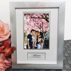 Mum Photo Frame Silver Wood 4x6 Photo