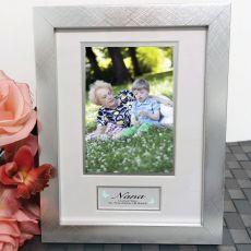 Nan Photo Frame Silver Wood 4x6 Photo