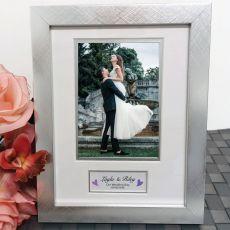 Wedding Photo Frame Silver Wood 4x6 Photo
