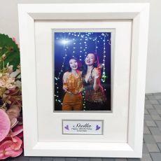 18th Birthday Photo Frame White Wood 4x6 Photo