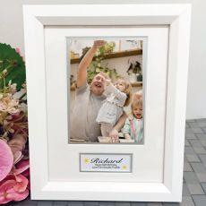 80th Birthday Photo Frame White Wood 4x6 Photo