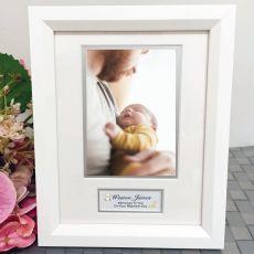 Baptism  Photo Frame White Wood 4x6 Photo