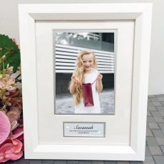 Communion Photo Frame White Wood 4x6 Photo