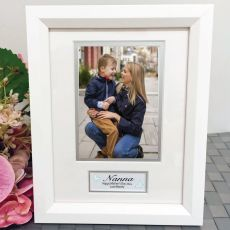 Nan Photo Frame White Wood 4x6 Photo