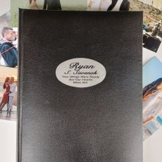 Personalised Memorial Album 300 Photo Black
