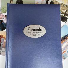 Personalised 40th Birthday Album 300 Photo Blue