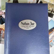 Personalised 60th Birthday Album 300 Photo Blue