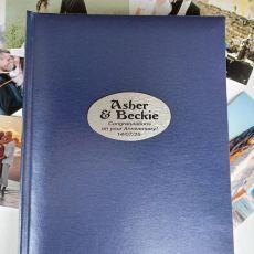 Personalised Anniversary Album 300 Photo Blue