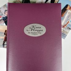 Personalised  Baptism  Album 300 Photo Rose