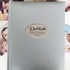 Personalised 50th Birthday Album 300 Photo Silver