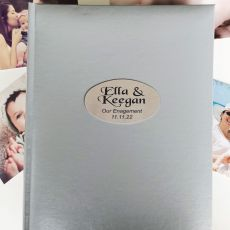 Personalised Engagement Day Album 300 Photo Silver
