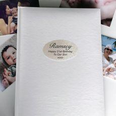 Personalised 21st Birthday Album 300 Photo White