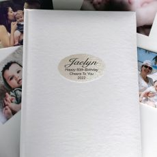 Personalised 60th Birthday Album 300 Photo White