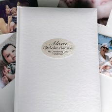 Personalised Christening Day Album 300 Photo White