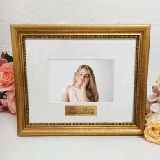 13th Birthday Photo Frame 4x6 Majestic Gold