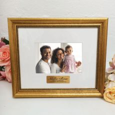 1st Birthday Photo Frame 4x6 Majestic Gold