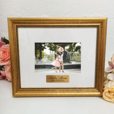 40th Birthday Photo Frame 4x6 Majestic Gold
