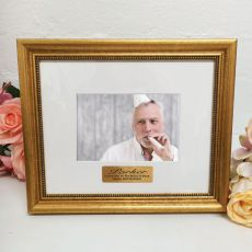 50th Birthday Photo Frame 4x6 Majestic Gold