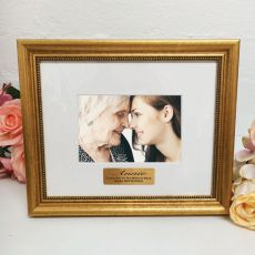 80th Birthday Photo Frame 4x6 Majestic Gold