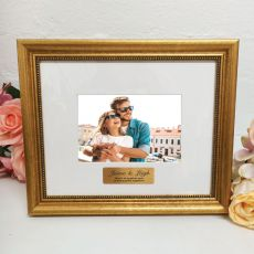 Anniversary Photo Frame 4x6 Majestic Gold
