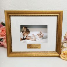 Baby Photo Frame 4x6 Majestic Gold
